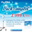 Pack installation 3 Lampes X300+ 100 Kits Starter Pro-white