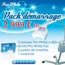 Pack installation 3 Lampes X400+ 100 Kits Full Pro-white